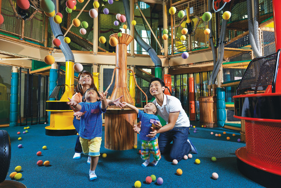 Families can also have fun at the Kidz Amaze playground as part of the birthday party package
