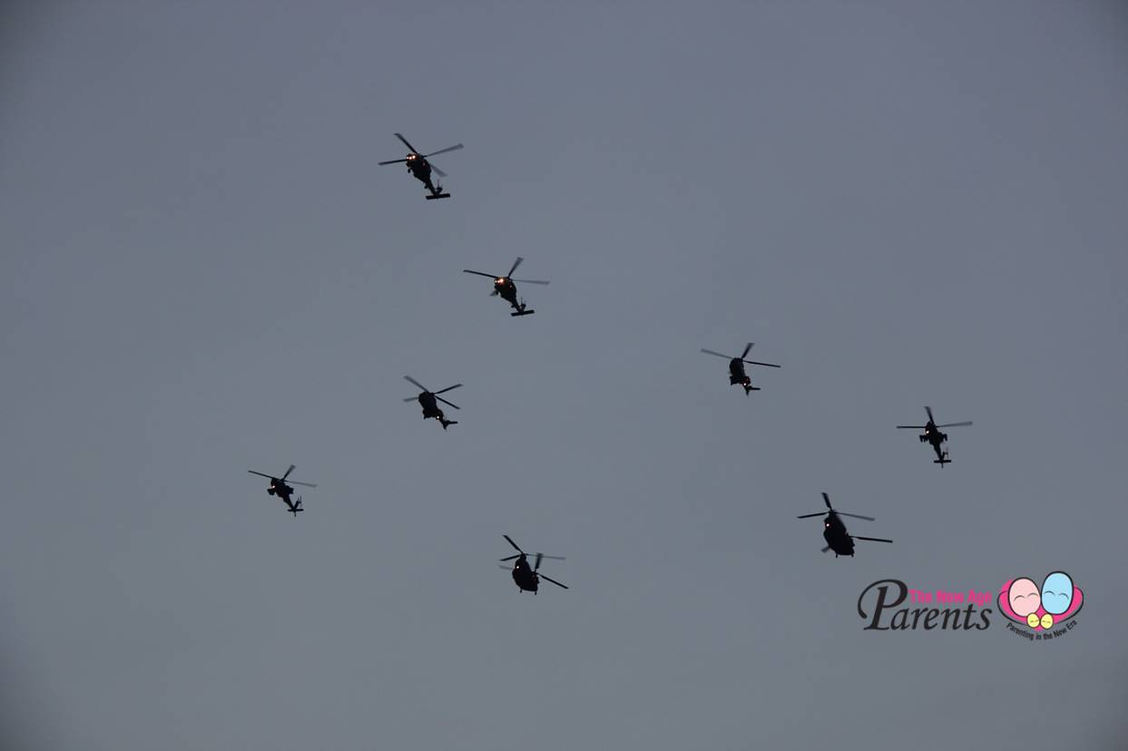 SG50 NDP 2015 Flypast Helicopters