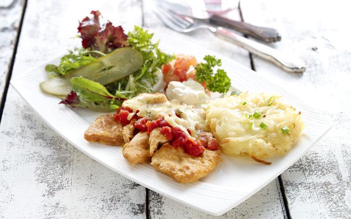Chicken Schnitzel Rosti Swissbake