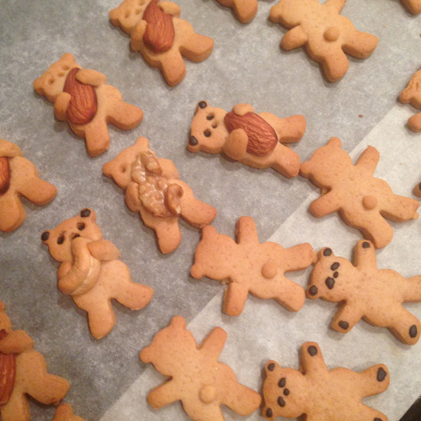 Cute teddy bear cookies recipe