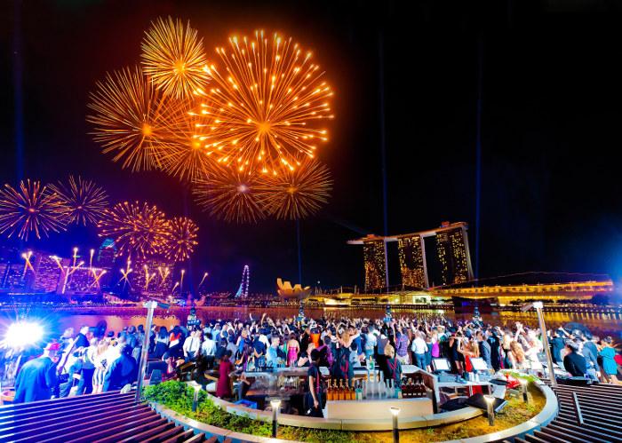 Fireworks marina bay