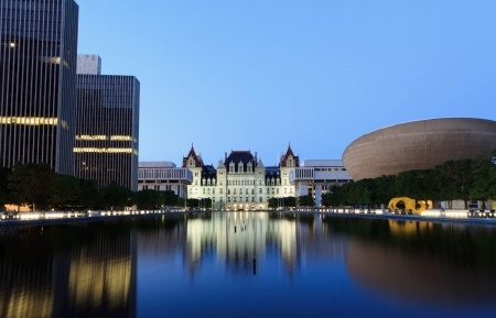 State Capitol of New York, Albany after sunset
