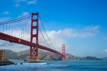 a view of the Golden Gate Bridge of San Francisco, California