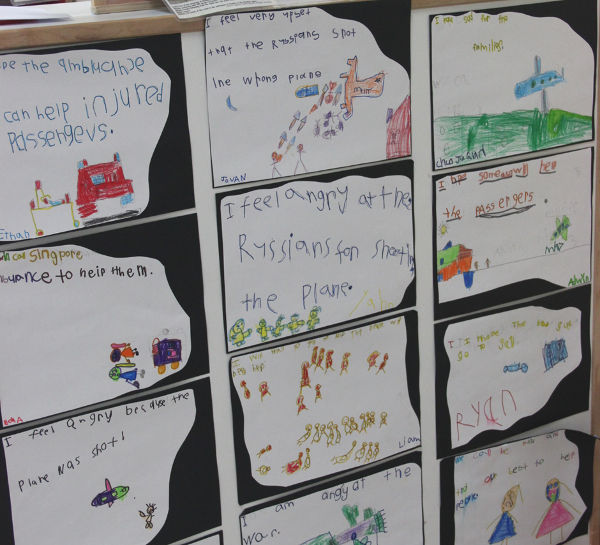Children's reflection on MH17