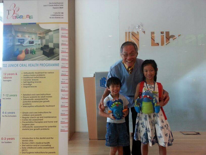 Dr Lim Swee Teck at T32 Junior Show & Tell at AMK Library