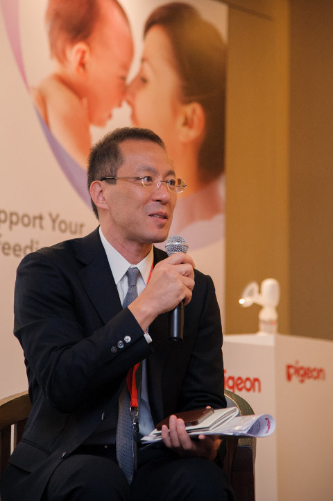 Mr Satoru Saito, General Manager and Chief Researcher of Breastfeeding Laboratory, Pigeon