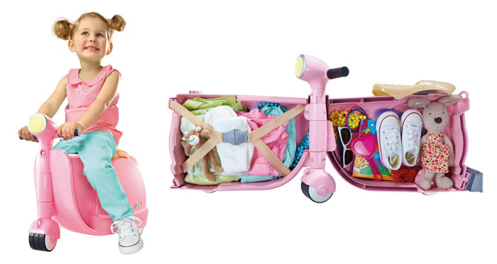 Skoot Ride on Luggage (Pink)