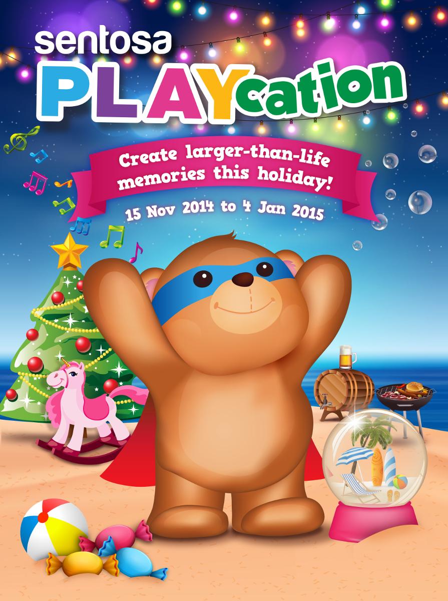 Festive holiday program in sentosa