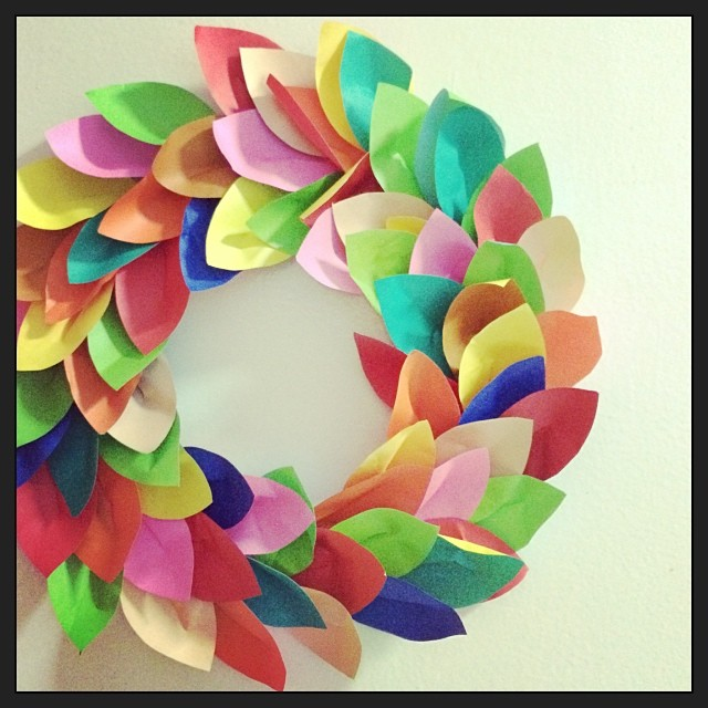 paper wreath - end product