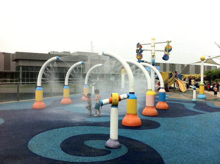 water play at NEX Shopping Mall