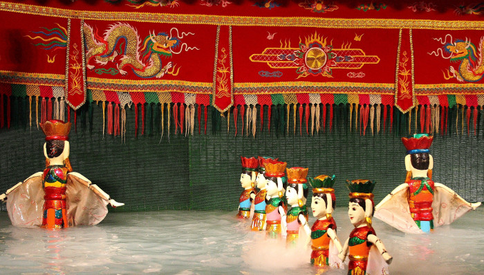 Famous Waterpuppet in Ho Chi Minh City