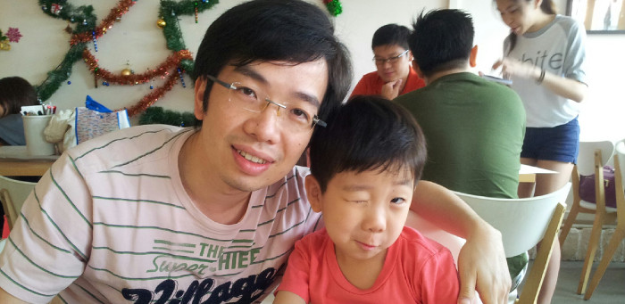 Peter Tao and his son