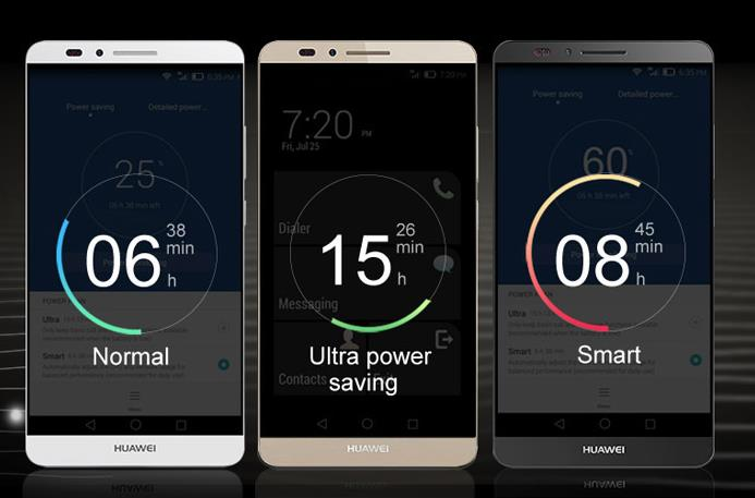 huawei mate 7 phone with a strong battery life