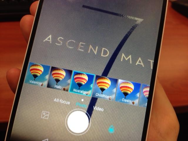 Huawei Ascend Mate 7 camera filters