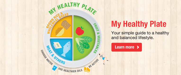 My healthy plate health promotion board