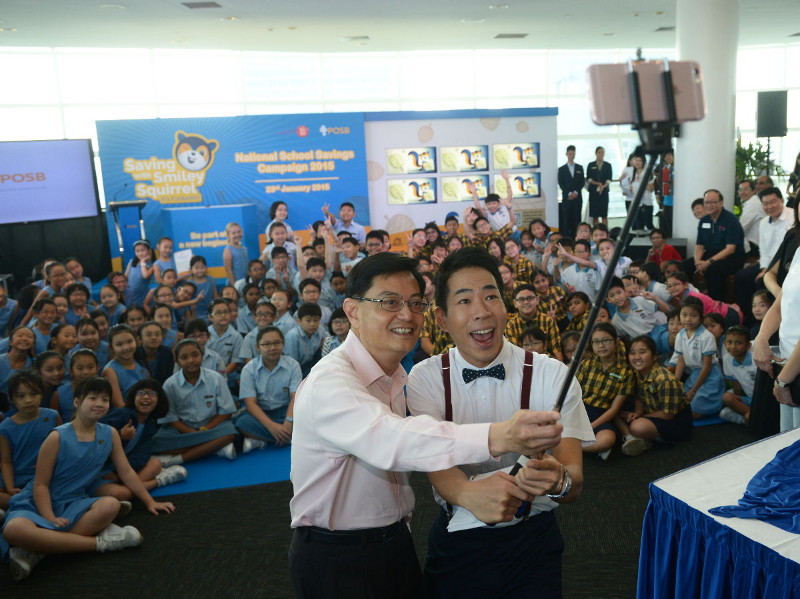 POSB National Savings Campaign Launch Day Selfie with Minister Heng