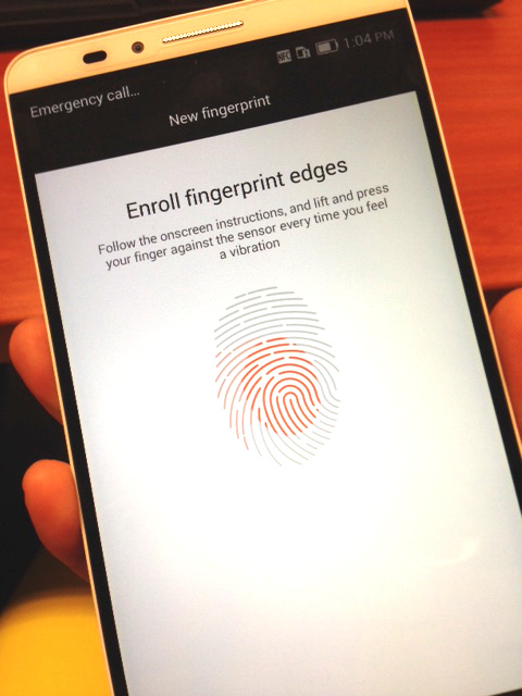 huawei mate 7 fingerprint sensor