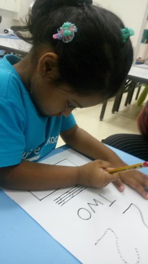 Exquisite Playskool girl writing