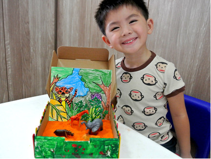 Sandbox Adventure Art Activity for kids