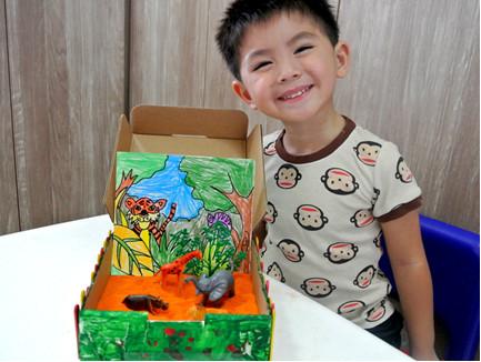 Sandbox Adventure Art Activity for kids