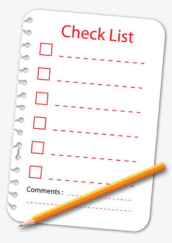 checklist- to do list