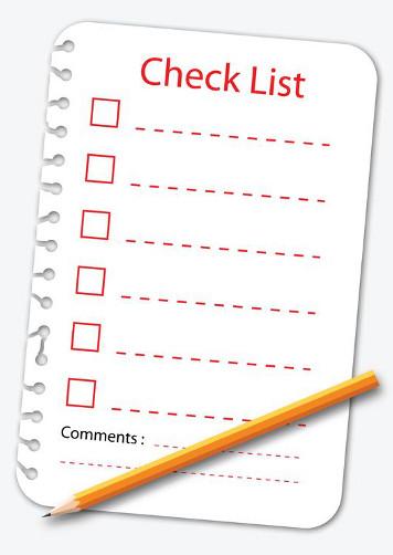 checklist- to do list