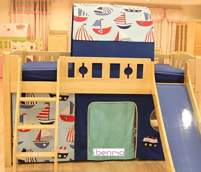 Boat sailing theme for children bed decoration