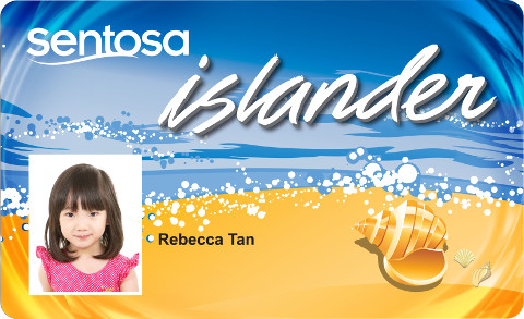 Sentosa Islander Card Rebecca Tan