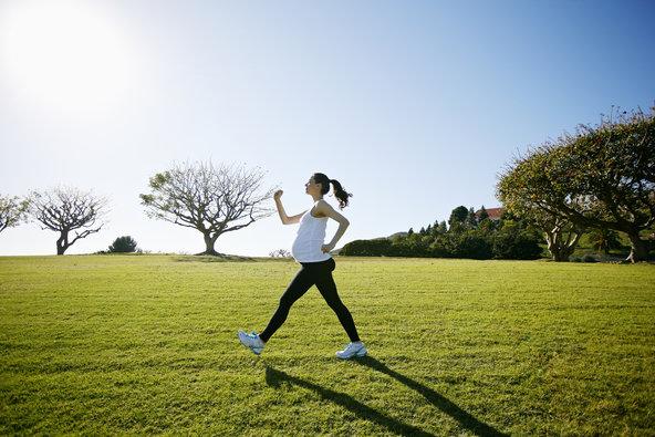 pregnant lady exercising