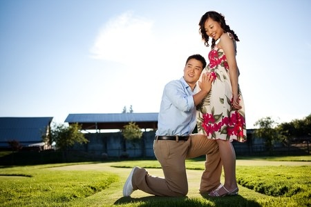 pregnant wife with husband