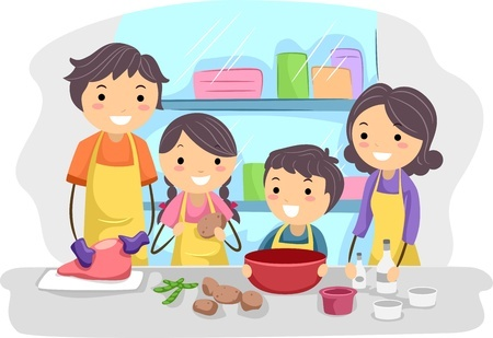 family bonding ideas - cooking