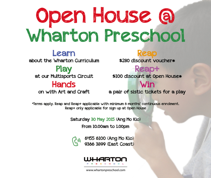 Wharton Preschool Open House 30 may