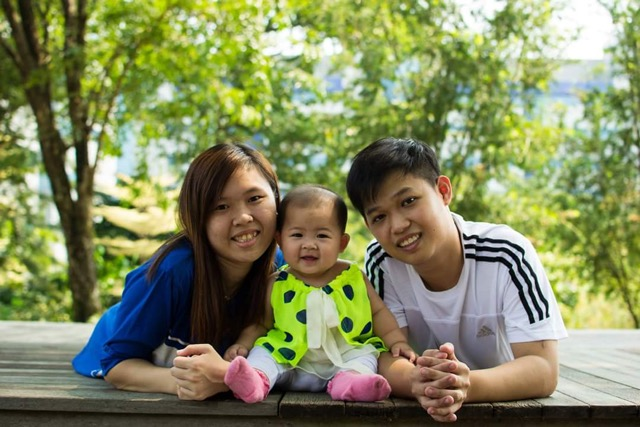 Young mothers in singapore Karen Ong and Family