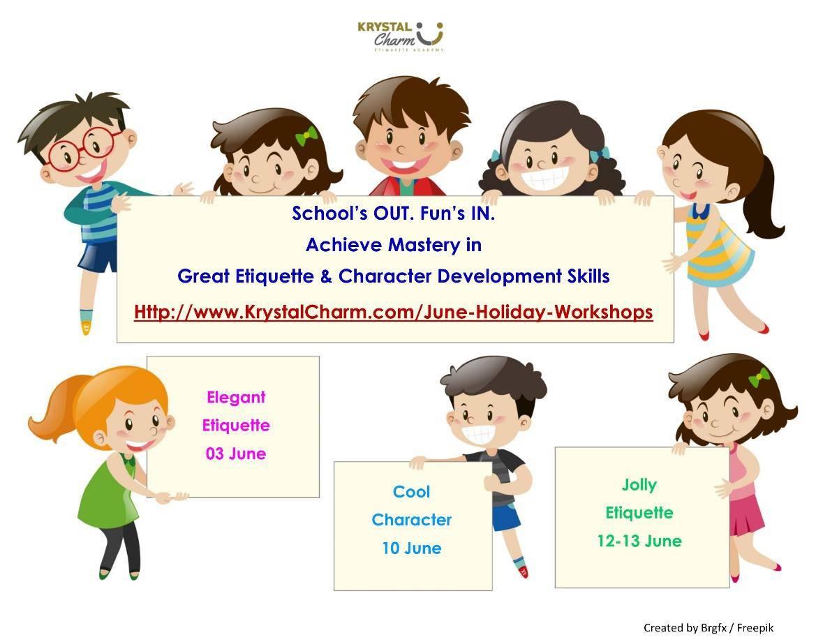 krystal charm june holiday workshops 2017