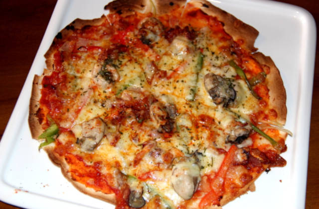 Bacon Oyster Pizza Saturday House