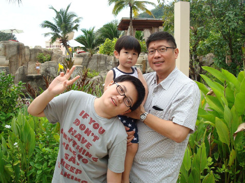 Mr Tan Wee Keng and his sons