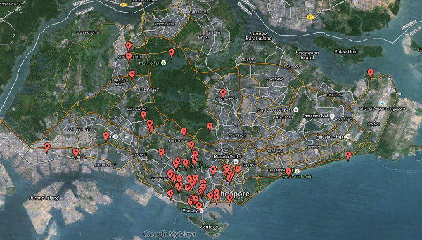 where to pick saga seeds in Singapore google maps