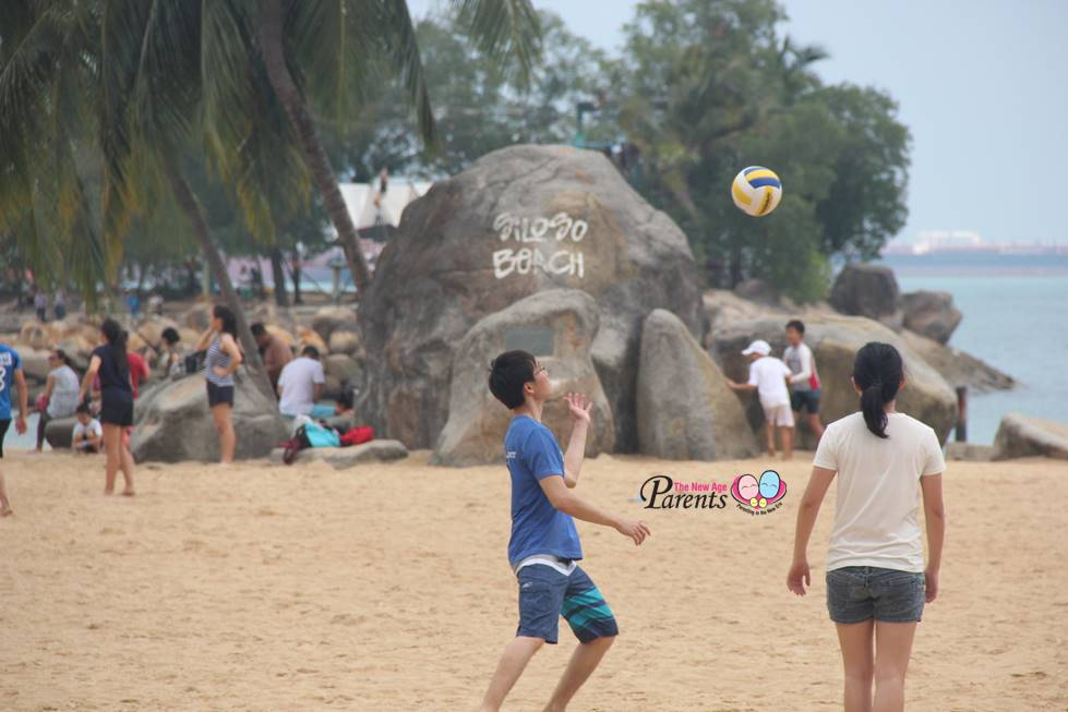 ball fun at siloso beach