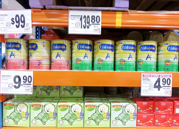 baby products at NTUC