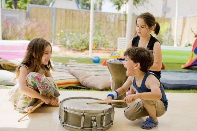 Children with music