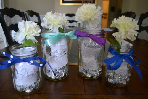 Glass jar of love for kids