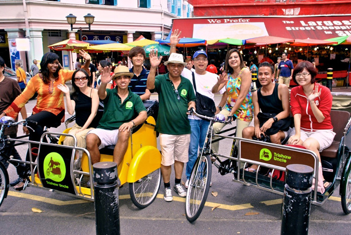 Go for a trishaw ride in singapore