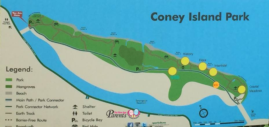 map of coney island park singapore