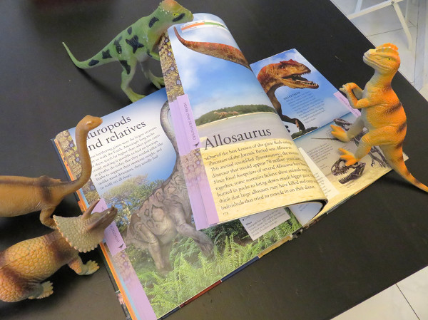 Dinovember Dinosaurs reading book
