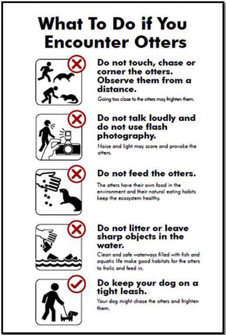 NParks Otter Sign
