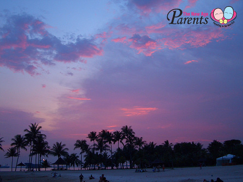 Sunset at Tanjong Beach Sentosa