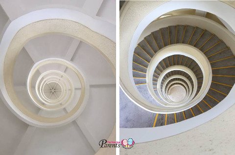 spiral staircase of 7 storey pagoda
