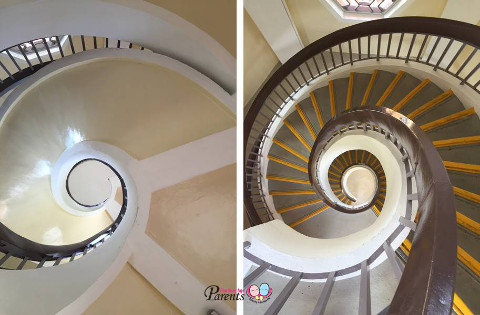 twin pagodas spiral staircase
