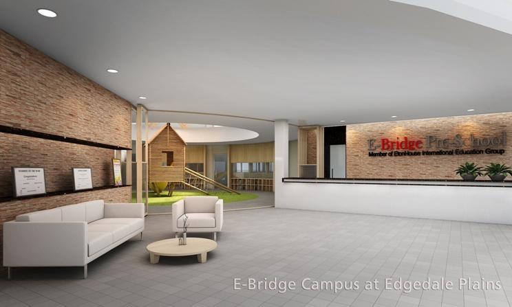 E-bridge campus at Edgedale Plains Mega childcare centre in Singapore
