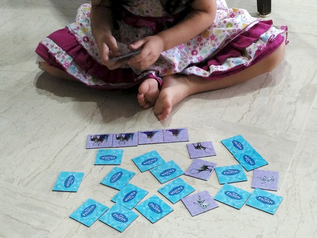 reinforcing Heguru lessons at home - memory match game